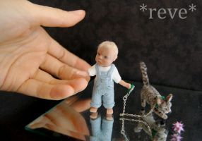 Taking a Walk * Handmade Miniature Sculpture * by ReveMiniatures