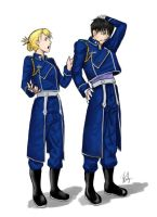 Roy and Riza Coloured sketch by TheGargoyleAlchemist