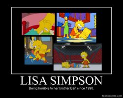Lisa Simpson - Being horrible to Bart. by Thegonk