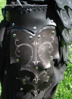 Drow Armor - tasset on hip by farmerownia
