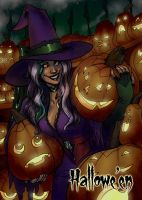 Jack-O-Lanterns Base Card Art - Mel Uran by Pernastudios