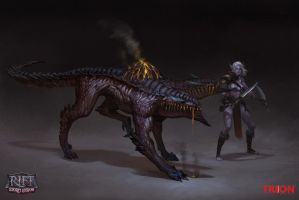 Fire Mob Flamesired Hound by openanewworld