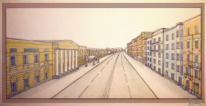 Prechistenka street by OmegaLioness