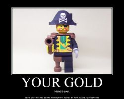 paper LEGO Pirate wants gold by ninjatoespapercraft