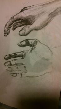 Hand quick sketch by SoulF-ree