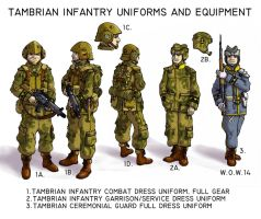Tambrian Uniforms by wingsofwrath