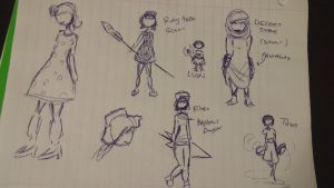 Character of the Day Sketch Dump 1 by Pikazxyz101