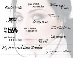 My Immortal lyric brushes by daydream--believer