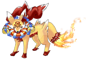 fennekin final evolution by ko-yuki-chan