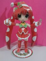 Christmas Miku papercraft by daigospencer