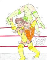 Wrestling Midas vs Patty 2 by Jose-Ramiro
