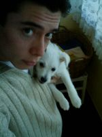 Me and my White Dog by SunnyDBoy