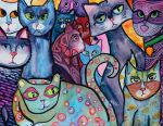 Colorful Cats 4 by jenthestrawberry