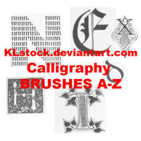 Calligraphy Brushes A-Z CS3 by KLStock
