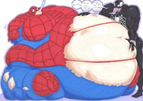 the gaining spiderman by prisonsuit-rabbitman