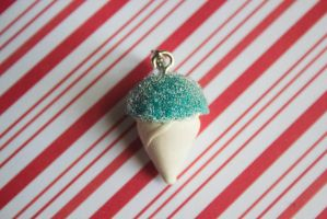 polymer clay blue snocone by l337Jacqui