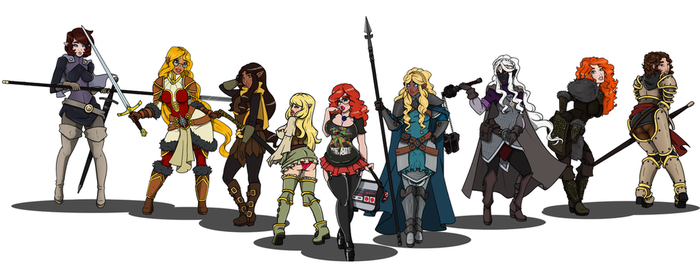 Character Poses 1-9 Complete by CandyKappa