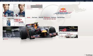 Red Bull Racing Web Design by brandonseaber