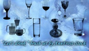 Let's drink brush set by AnnFrost-stock