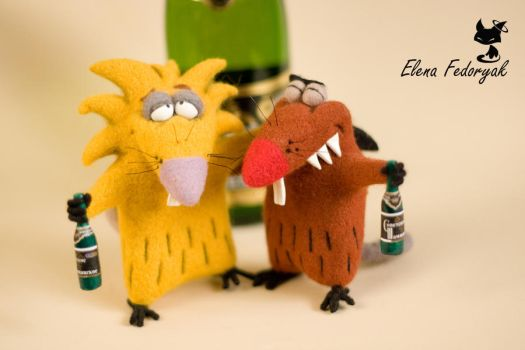 Angry beavers by KittenBlackUA