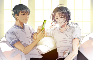 Phichit and Seung-gil and Hamster by wish114