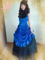 Blue Gothic Victorian Dress by mysexyzentai