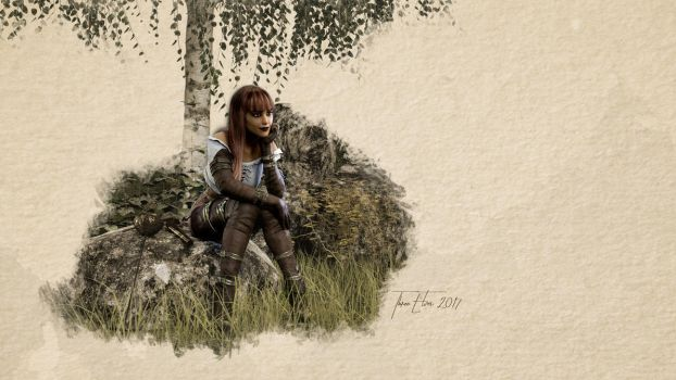 The Thinker by ThreeElves