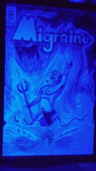 Migraine Issue Ininity under Blacklight by ProzacMan