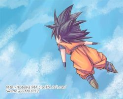 flying chibi goku by kotenka1984