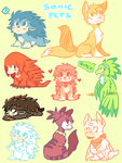 Sonic pets: Doodles by DiachanX