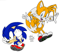 Retro Pose, Sonic and Tails! by PreStalnic