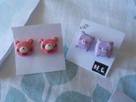 Kawaii Earrings by misoandramen