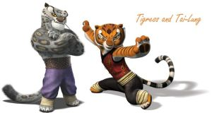 Tai-Lung and Master Tigress by Autocon-Femme
