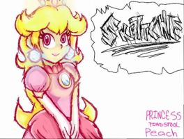 Request: Princess Peach Toadstool by Skettche