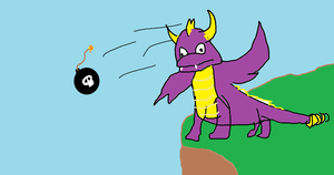 Spyro throwing bombs by twirli