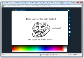 Trolling the tiny chat white board by ConstantConfusionBK