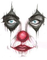 Watercolor Clown by GroovyByDawn