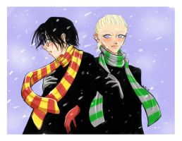 Harry and Draco by mystcloud