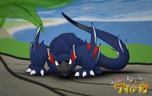 Baby Nargacuga does not like the camera! by Driver2BM