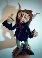 SOLD: Grum - Goblin Fae Posable Art Doll by FaunleyFae
