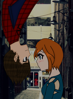 With Spider-Man *Completed Collab* by FlyingPrincess