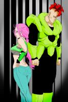 Android 16 and His Lover by PurpleRainbowXD