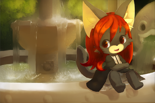 At the Fountain by Inkune