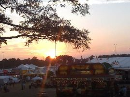 Sunset at the State fair of VA by e1ectricthunder
