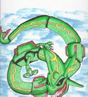 Rayquaza by Chibi-Dragoness