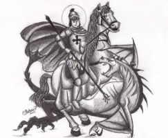 Saint George and the Dragon by hnl
