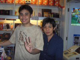 Me and the game shop owner by Gexon