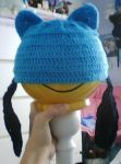 Riolu hat front view by LucarioFan1996