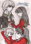P4: Souji and Yukiko by Somnolent-Escapist