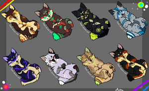 Puppy Adoptables -open- by xKiwiwolf